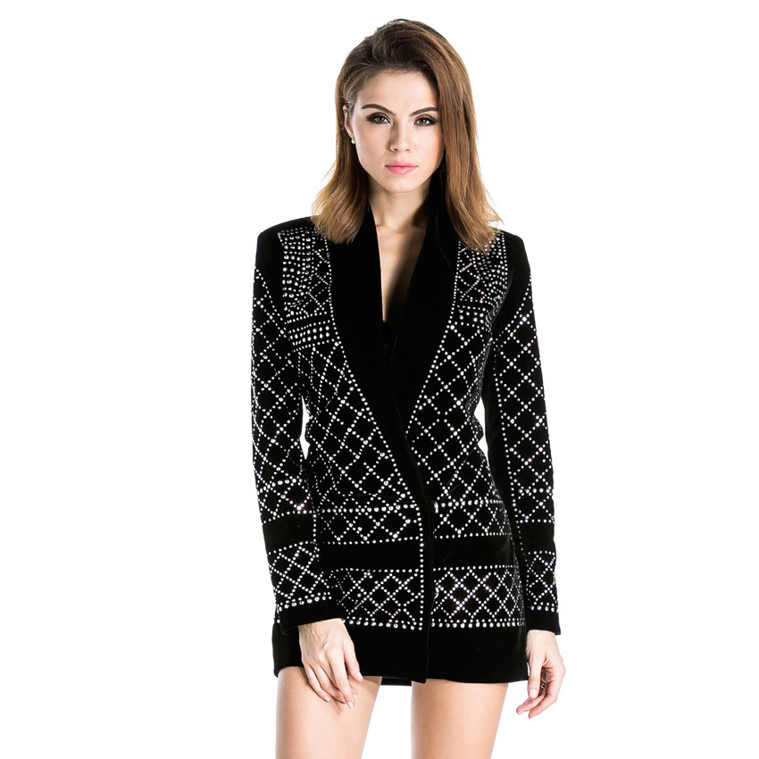 rock studded blazer dress on luulla. Black Bedroom Furniture Sets. Home Design Ideas